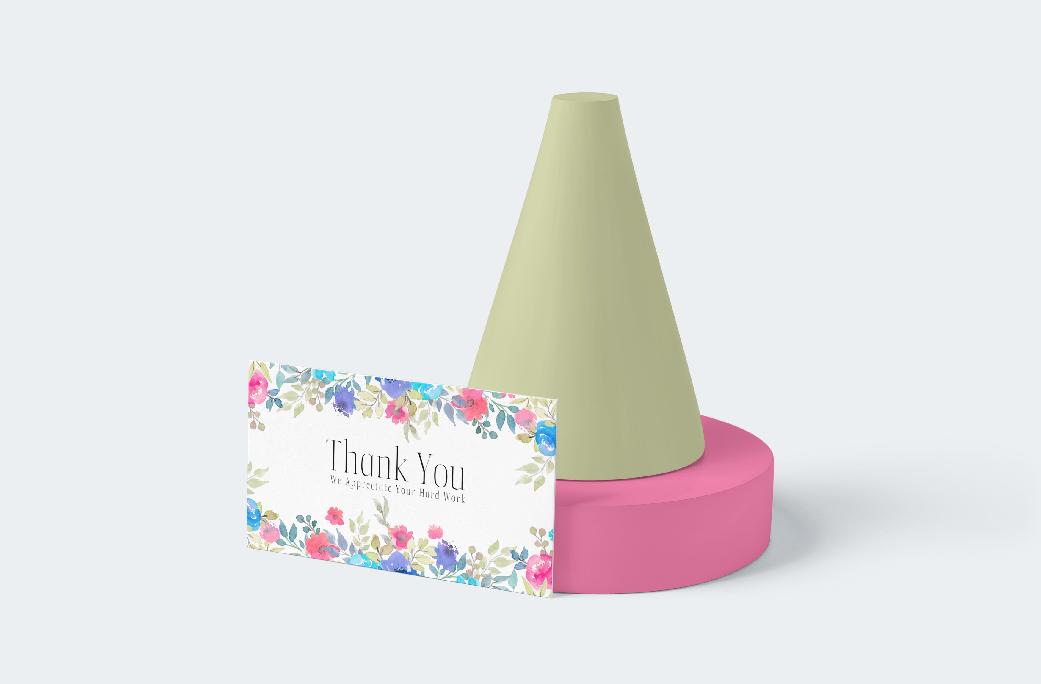 Thank you Rectangle Cisiting Card