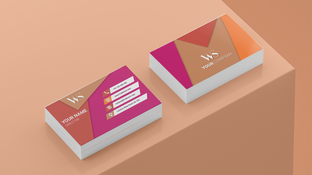 multicolor Visiting Card Name Horizontal