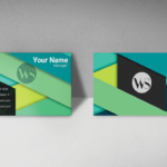 Business Visiting Card Multicolor