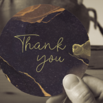 Round Thank you Card
