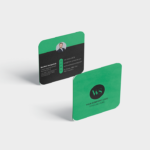 Business Card Mockup - Square Round Corner