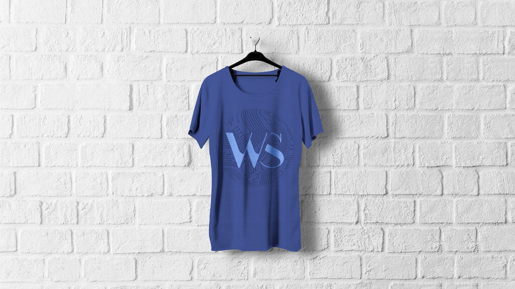 T shirt Mock Up Blue