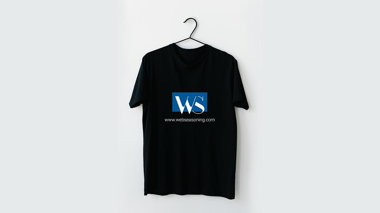 Black T-Shirt mockup Replace your Logo