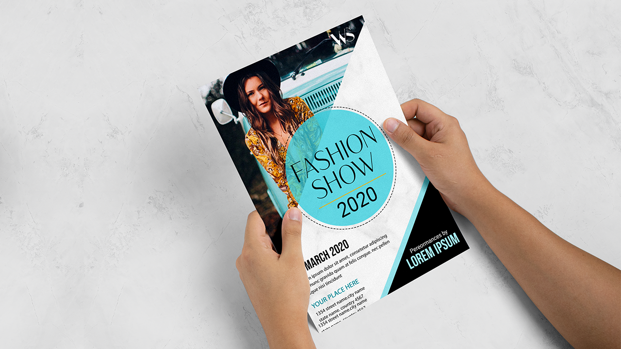 fashion trends flyer black and blue