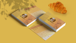 Yellow Background Bakery Business Card Template