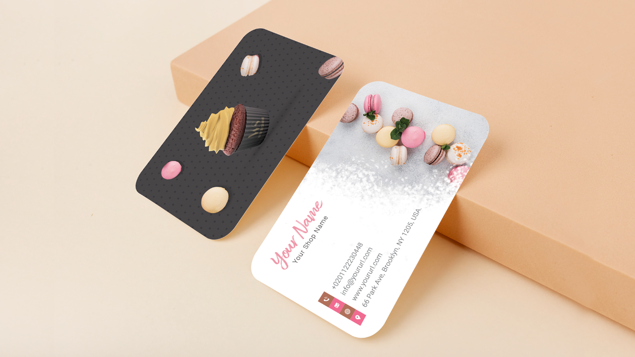 Dark Brown and white Bakery Visiting Card