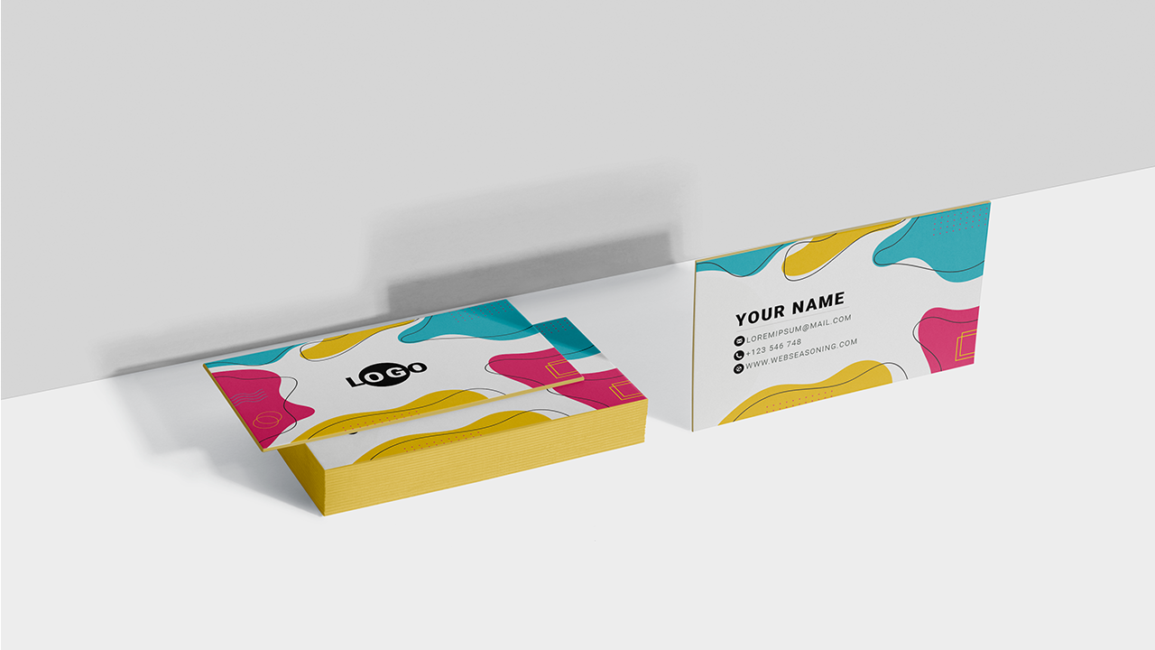 abstract colorful visiting card