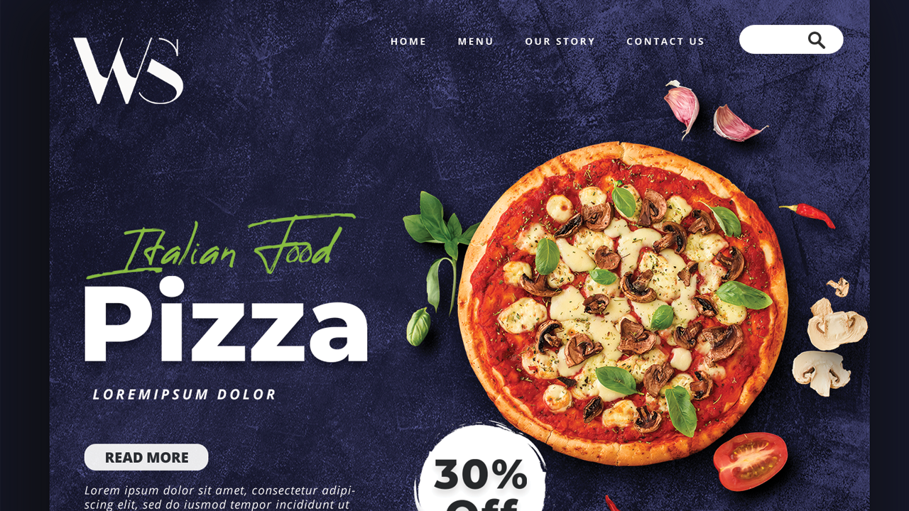 Pizza Order - Landing Page Template