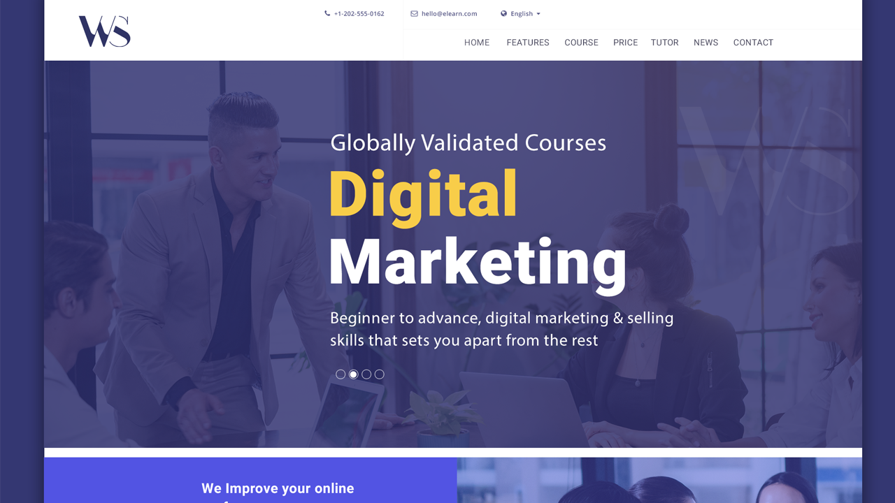 landing page optimization & design for digital marketing education