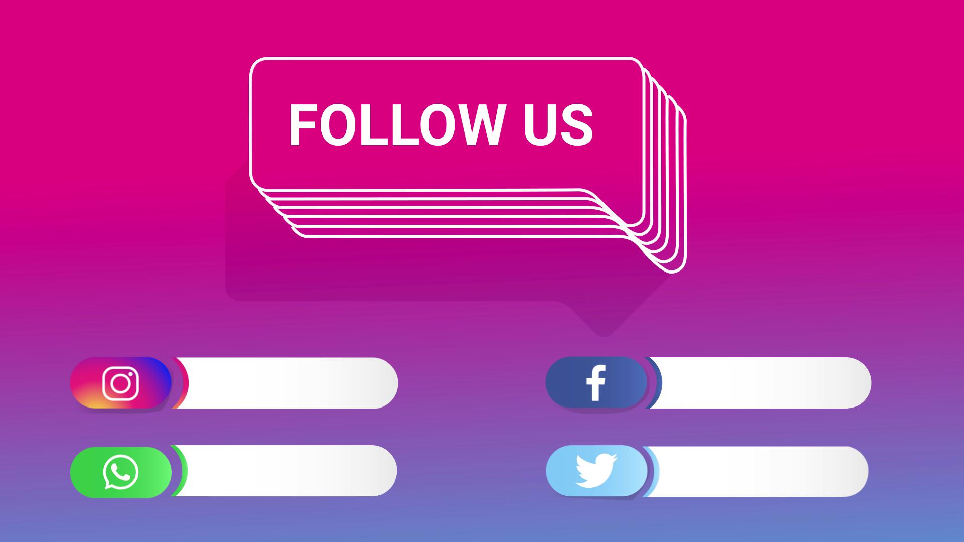 Follow Us Text Social Media