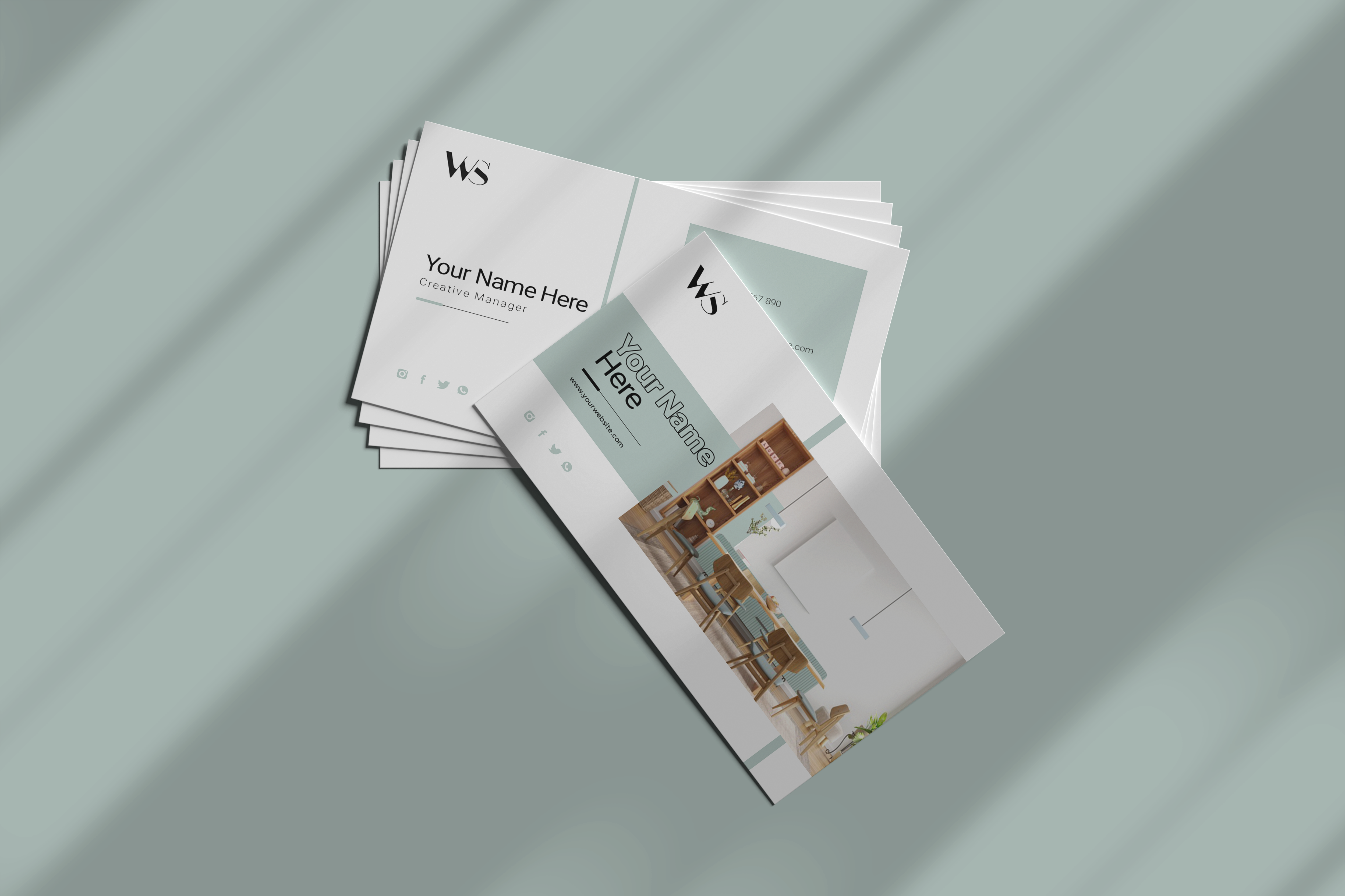 Business card for furniture and home decor company Free Psd