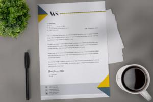 Creative letterhead design template