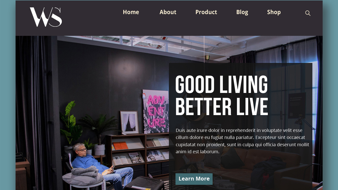 Furniture selling landing page template