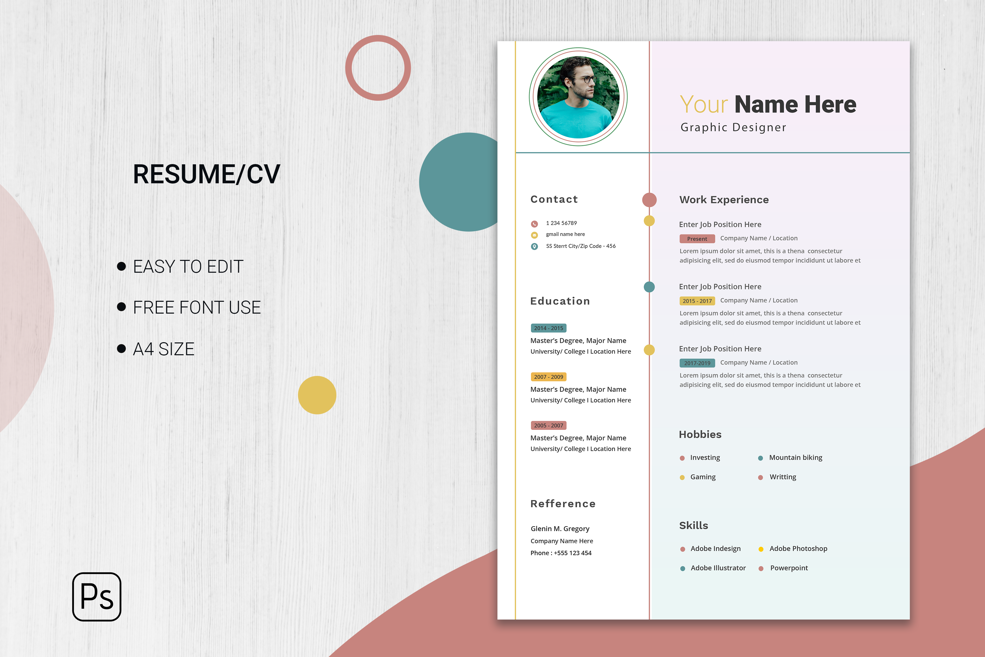 Minimalist application page template Free Vector