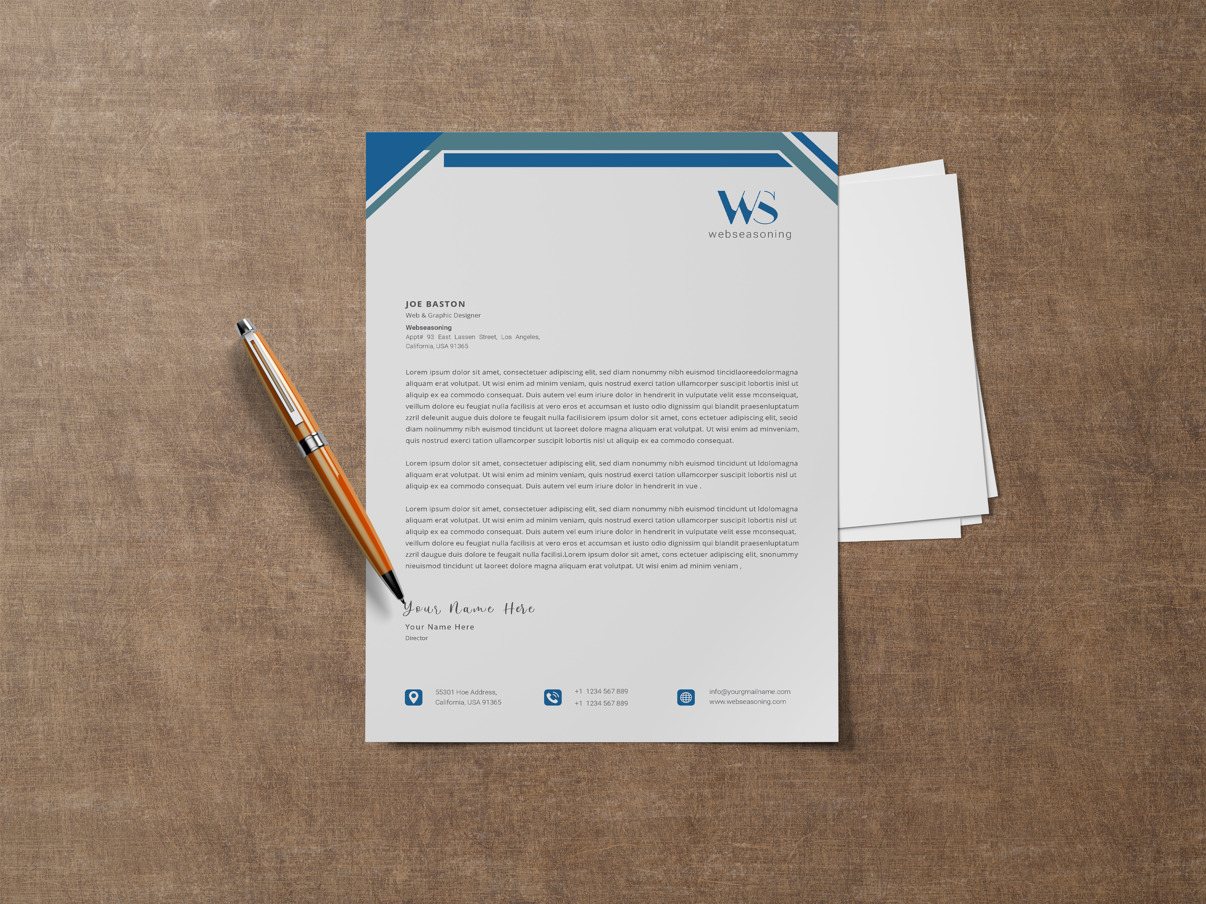 Professional creative letterhead template design for your business Free Vector