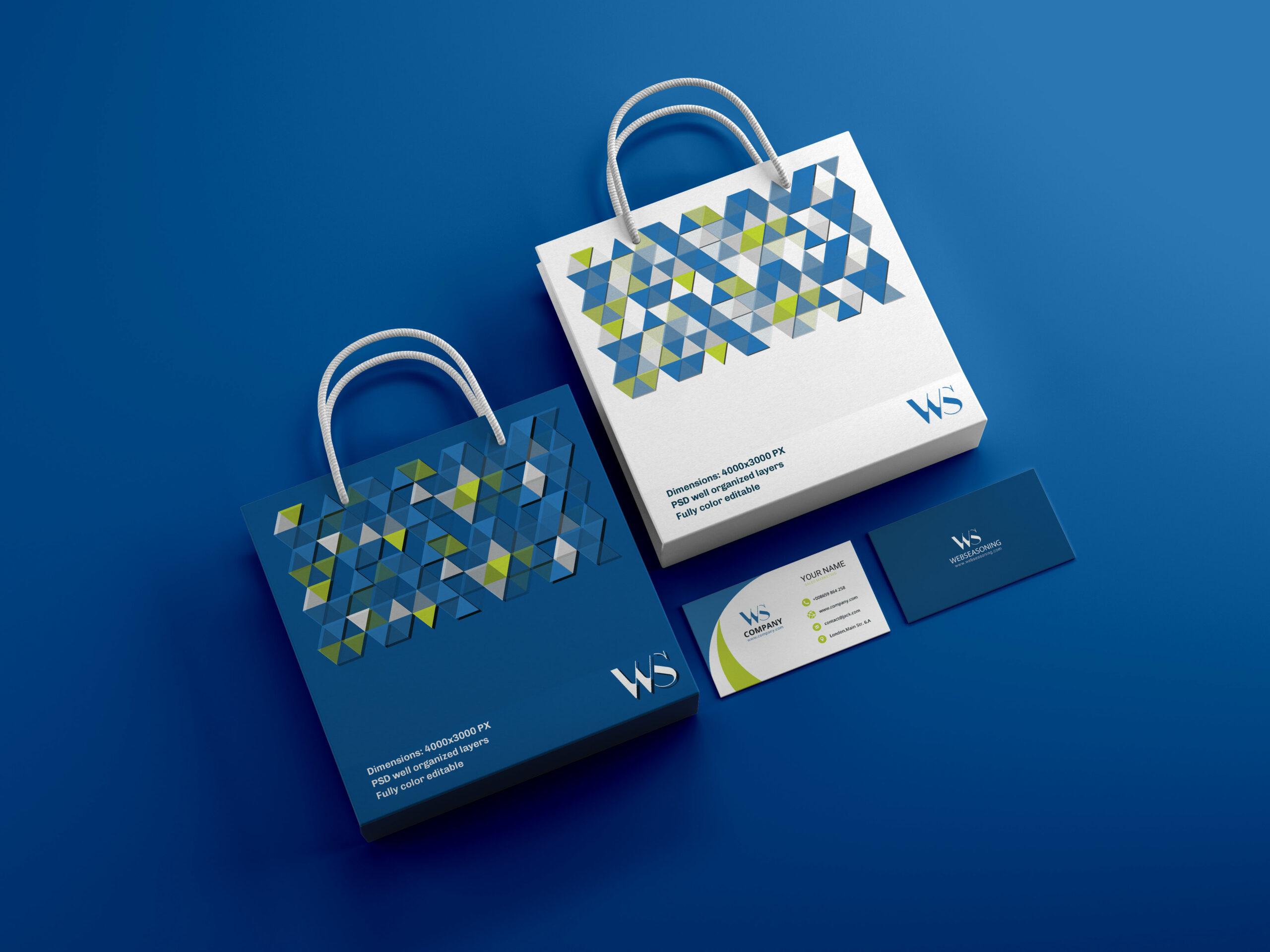 Corporate identity design Stationary template mockup