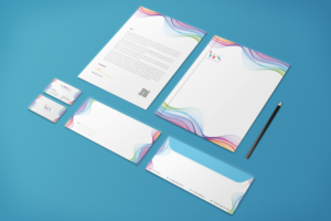 Corporate Style Rainbow Stationery Template