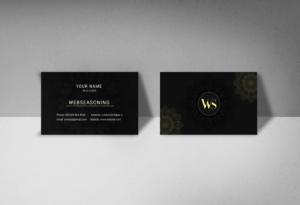 Detailed mandala business card