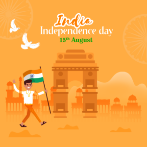 India independence day card Free psd