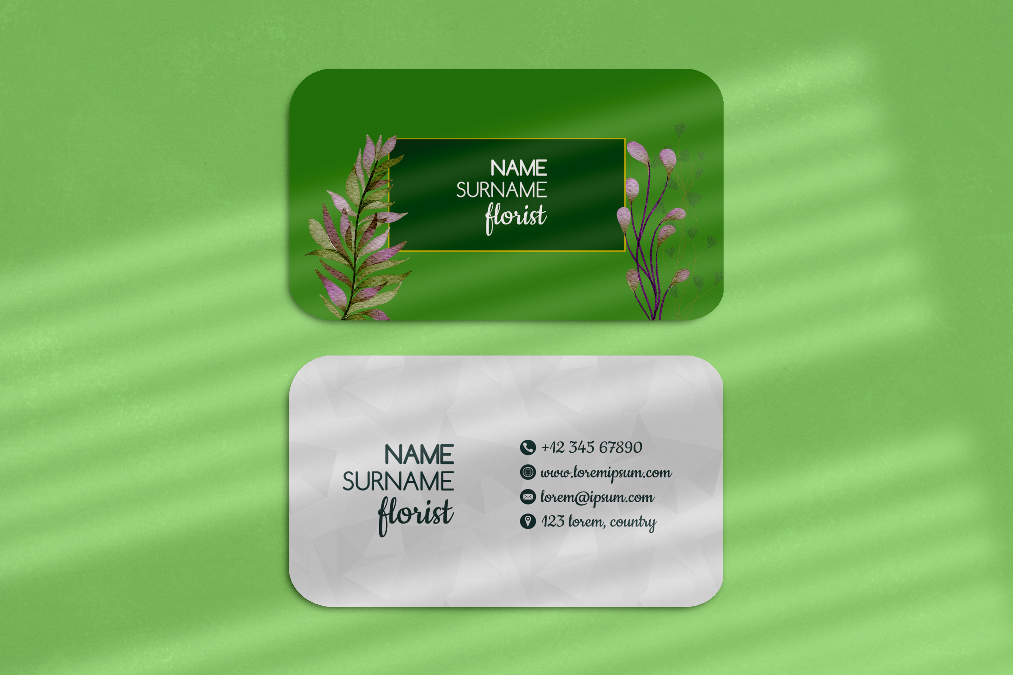 Lovely business card with flowers