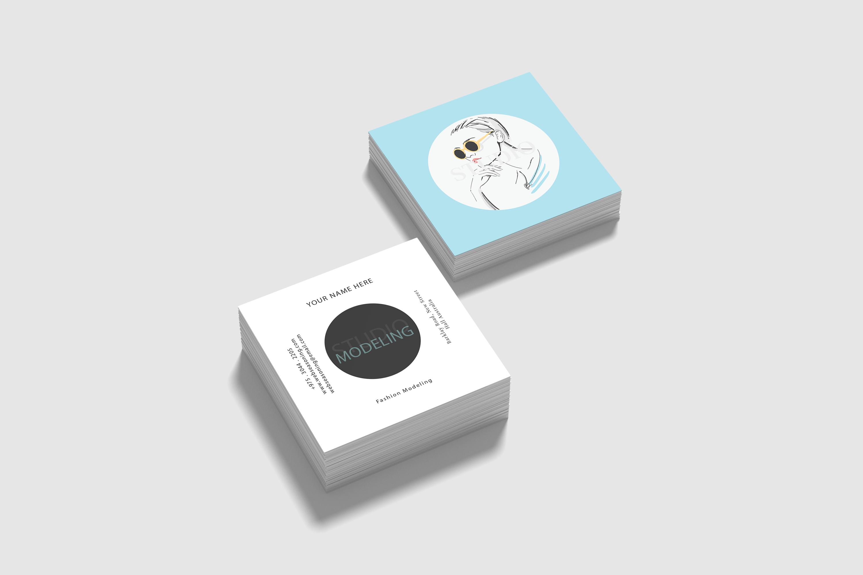 Modling Square Visiting Card Design