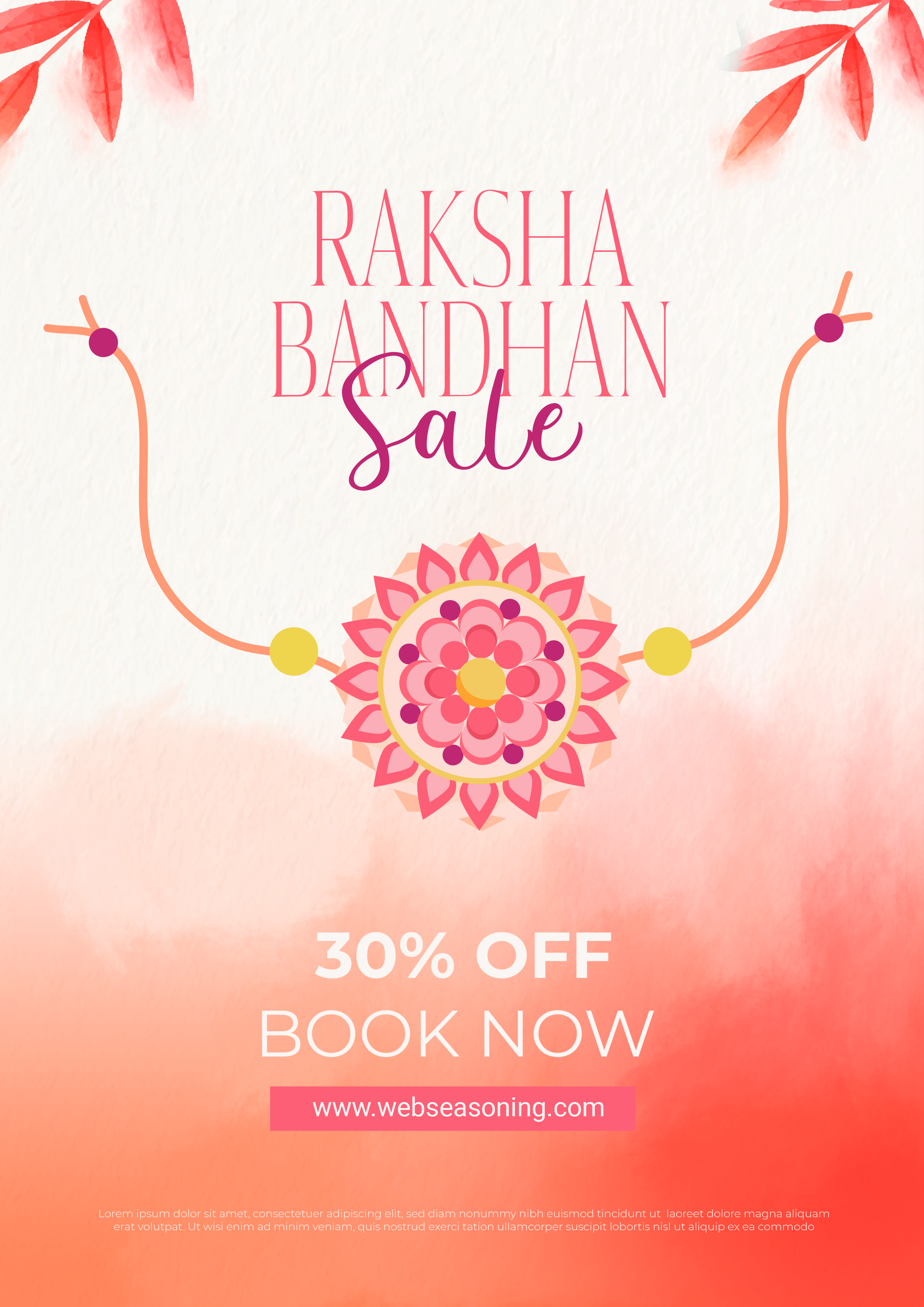 Rakhi Sale Banner for indian festival of raksha bandhan celebration