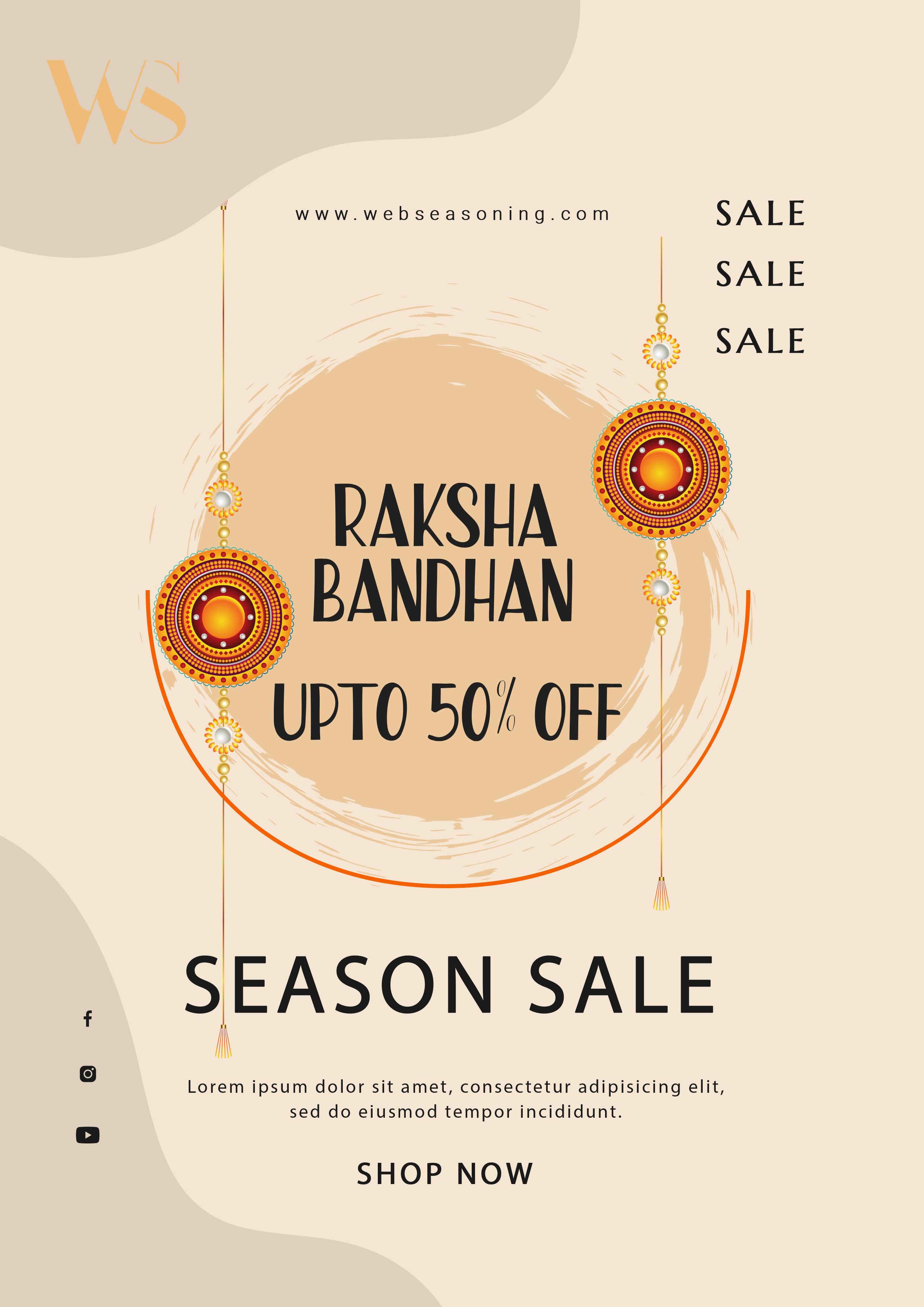 Raksha Bandhan Sale Flyer Design