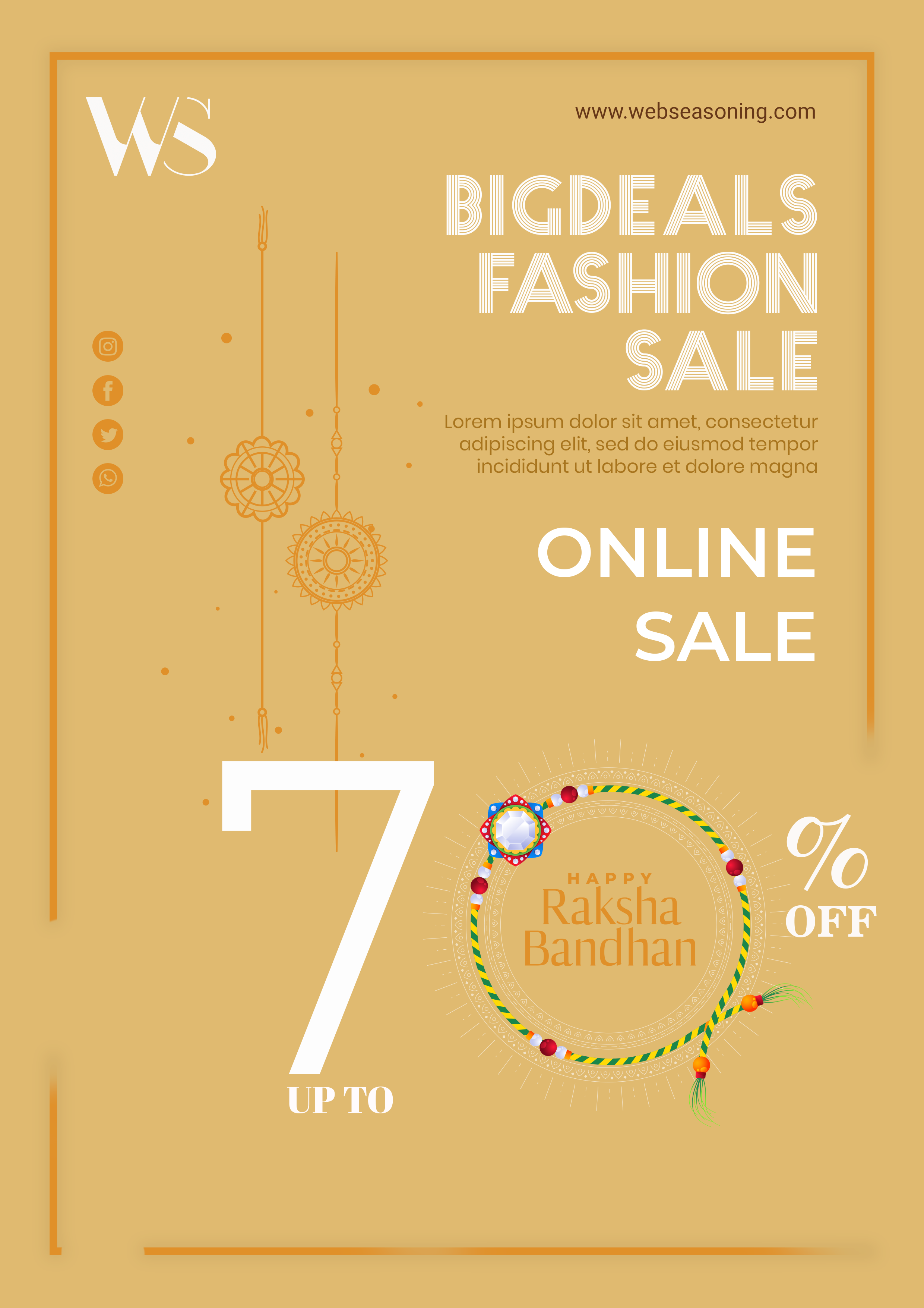 Raksha bandhan sale theme poster