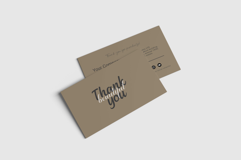 Simpale Thank you card design