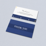 Thank you card in blue tones