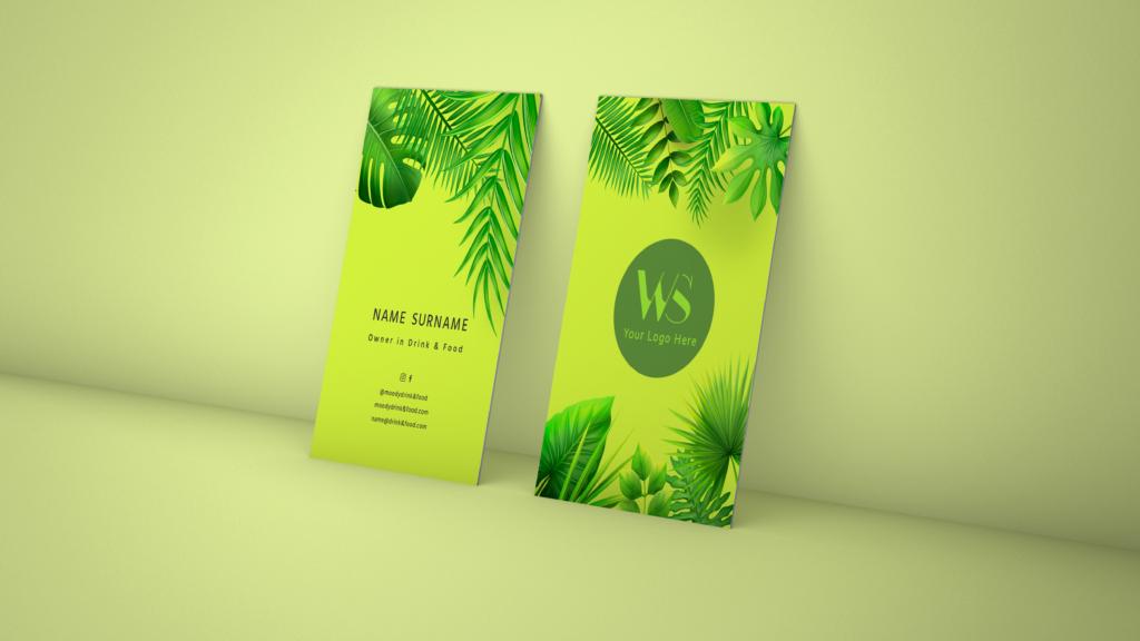 Tropical Business Card Design