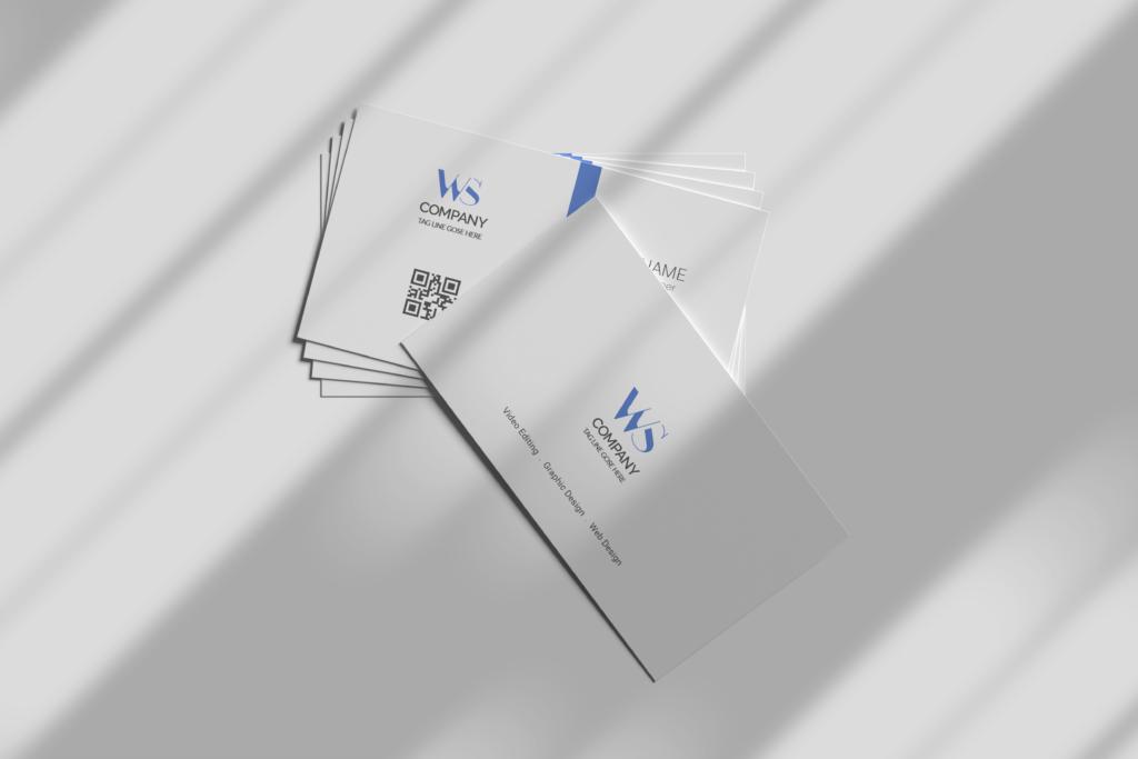 Blue elegant corporate card