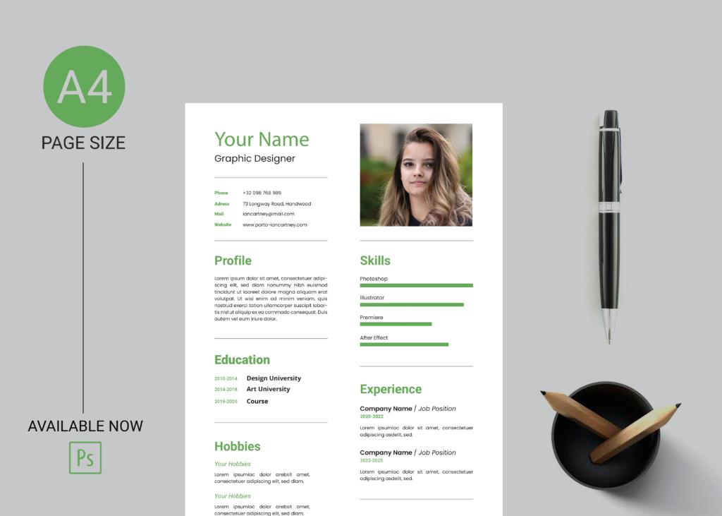 Modern professional creative resume template