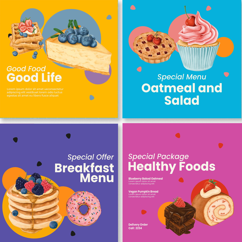 Foodie Instagram Post Template