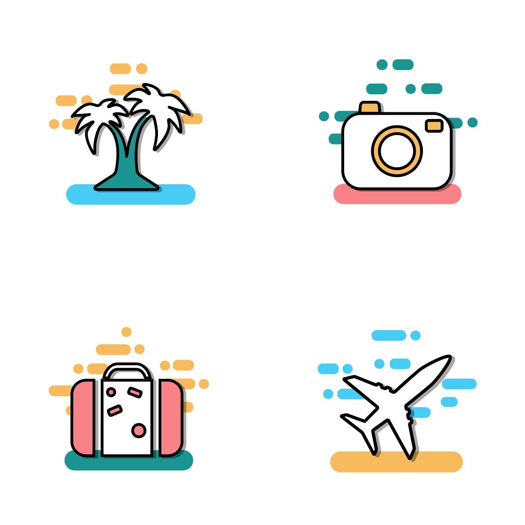 Traveling, transport & Tourism icon set